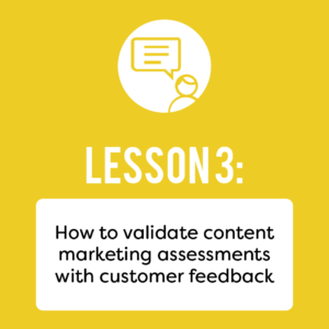 Validate content marketing ebook