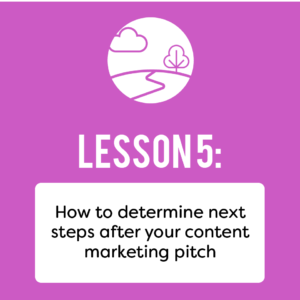 B2B marketing pitch steps