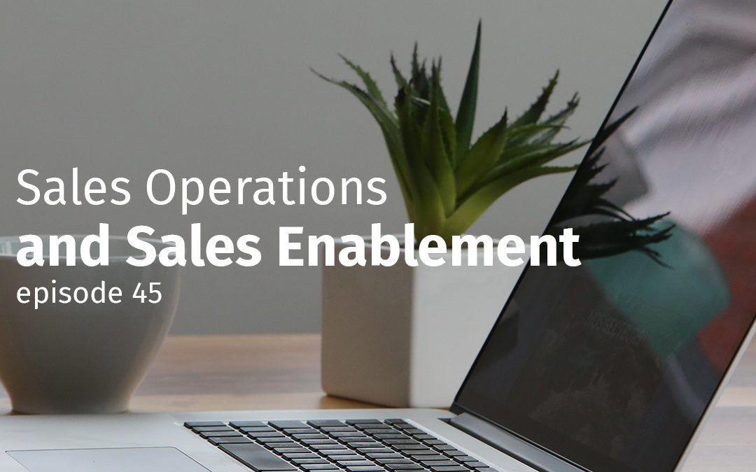 Episode 45 Sales Operations and Sales Enablement