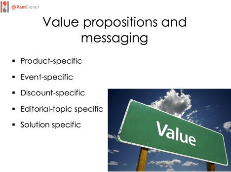 Value Proposition and messaging