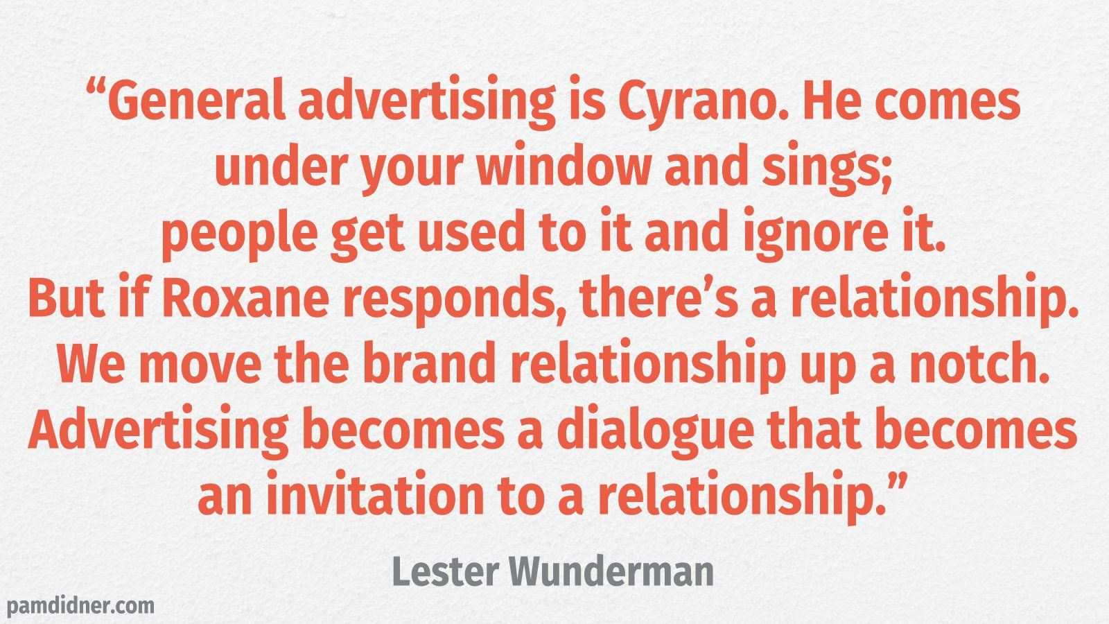 Advertising Branding Quote Lester Wunderman