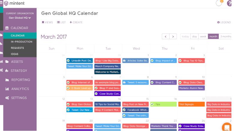Global Marketing Calendar
