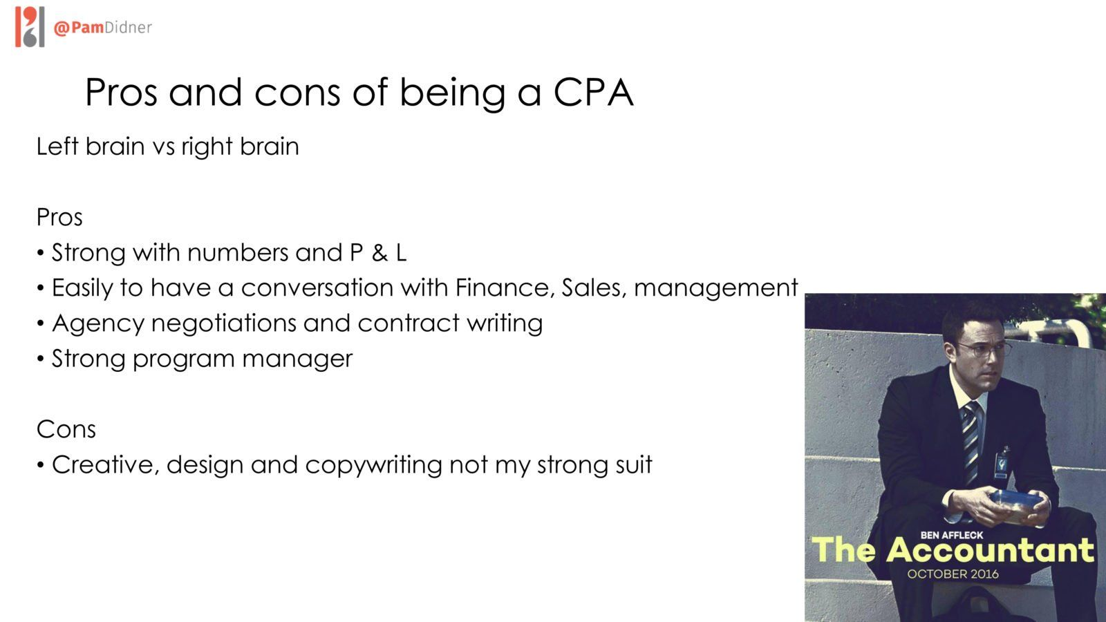 Pros and cons CPA