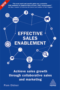 Sales enablement, B2B marketing webinar, Pam Didner, Effective sales enablement book