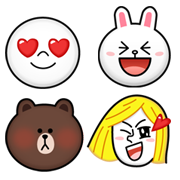 Line emoji and sticker characters
