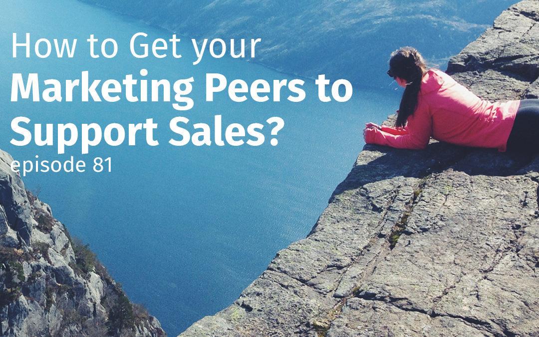 Episode 81 How to Get your Marketing Peers to Support Sales?