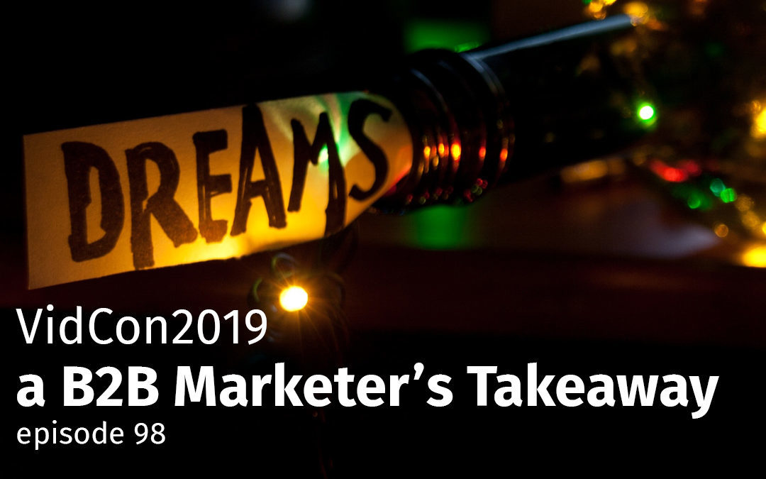 Episode 98 VidCon2019 – a B2B Marketer's Takeaway