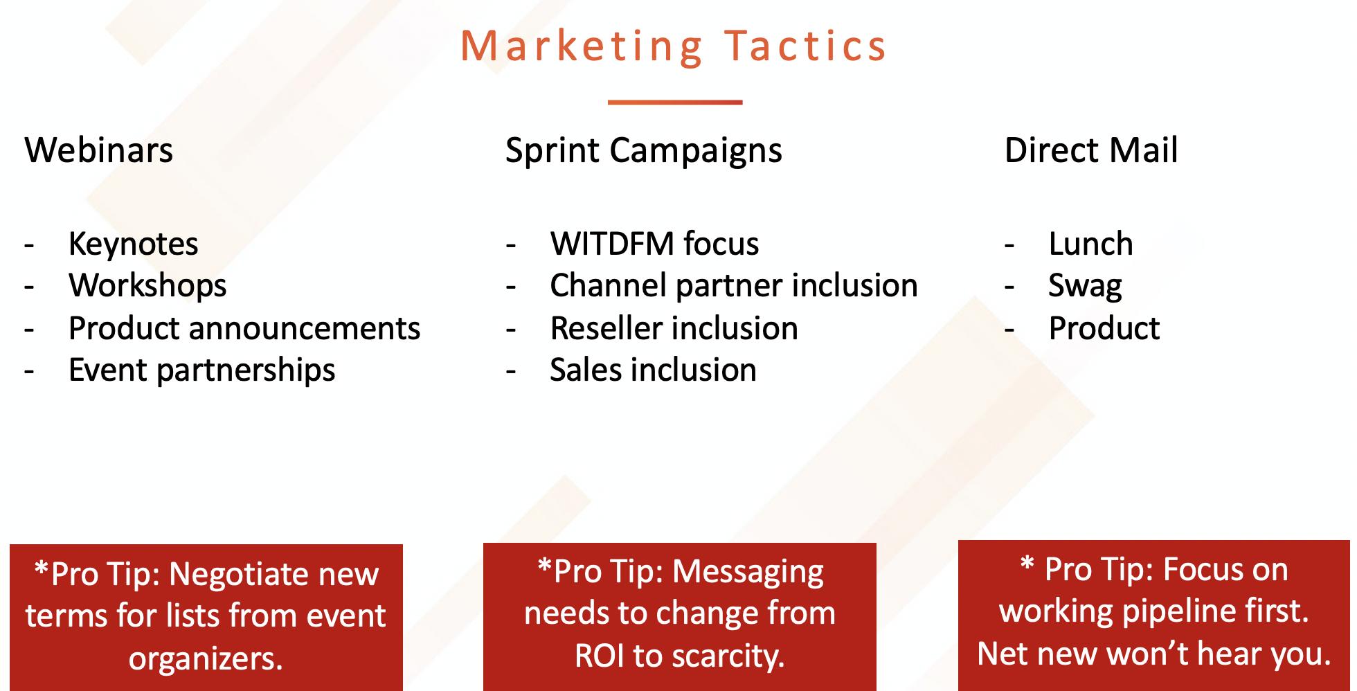 Types of Marketing Tactics
