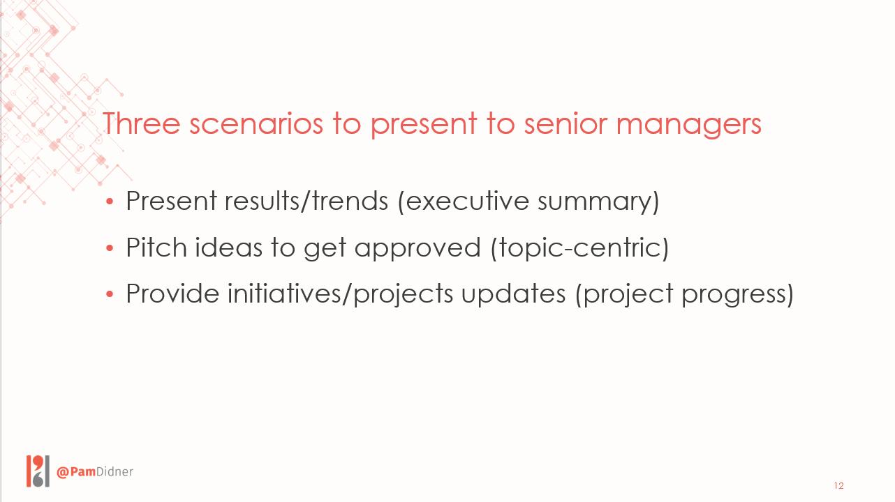 Tips for making a senior management presentation