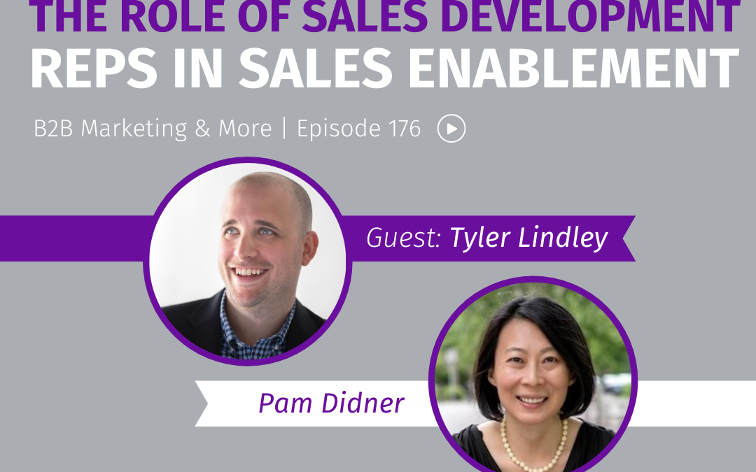 Episode 176 The Role of Sales Development Reps in Sales Enablement
